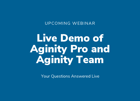 Webinar for Aginity Team